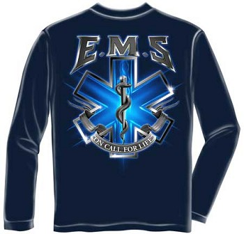 On Call For Life Long Sleeve EMS T-shirt
