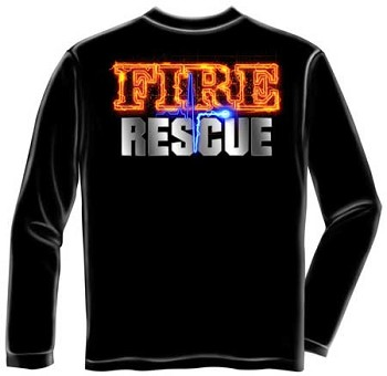 Fire Rescue T-shirt - Long Sleeve
