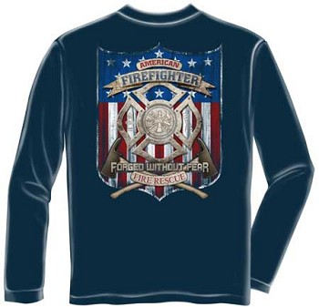 American Firefighter T-shirt - Long Sleeve