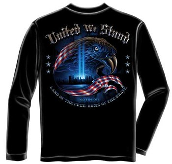 United We Stand 9/11 Patriotic T-shirt - Long Sleeve