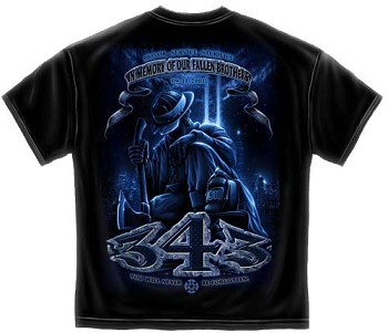 343 Fallen Brothers Firefighter 9/11 T-shirt