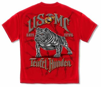 Marine Corps Red Teufel Hunden Military T-Shirt