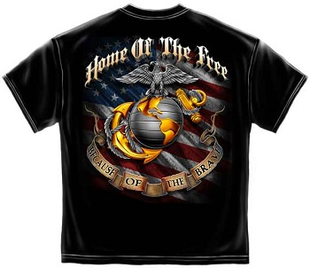 United States Military Marine Corps Soldier Cross Military T-Shirt
