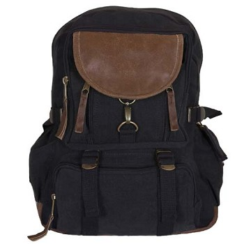 Vintage Parisian City Daypack - Black