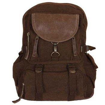 Vintage Parisian City Daypack - Brown
