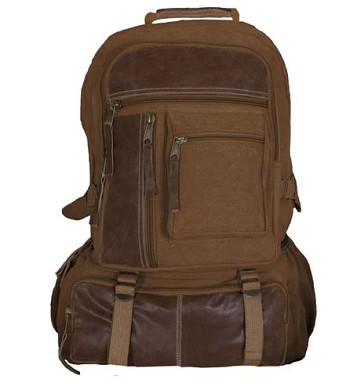 Vintage Cantabrian Excursion Canvas Backpack - Brown