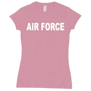 Womens Pink Air Force Babydoll T-shirt