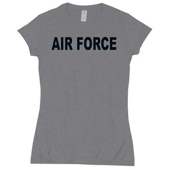 Womens Grey Air Force Babydoll T-shirt