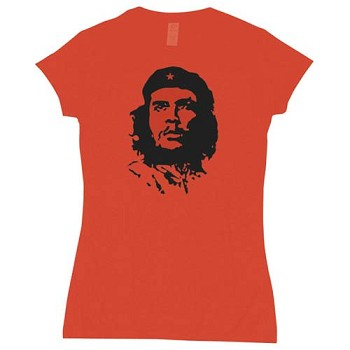 Womens Red Che Guevara Babydoll T-shirt