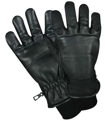 Generation-4 D-3A Black Leather Military Glove