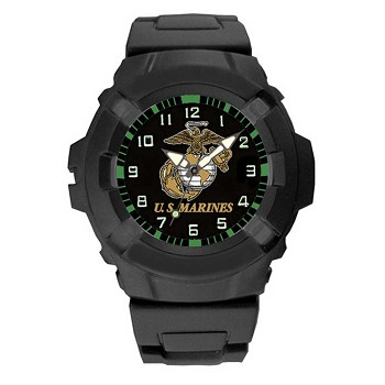 Black Heavy Duty U.S. Marine Watch