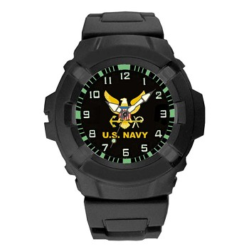 Black Heavy Duty U.S. Navy Watch