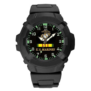 Aqua Force Analog Vietnam Vet U.S. Marine Watch - 24WA