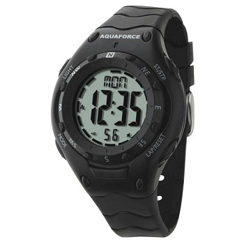 Multi-Function Digital Black Watch and Compass