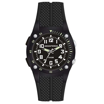 Analog Black Tactical Watch and Flashlight