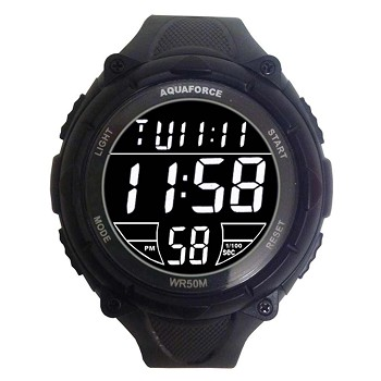 Black and White Jumbo Digital Tactical Watch