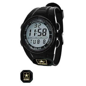 Digital U.S. Army Black Tactical Watch