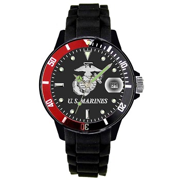 Analog Black and Red U.S. Marines Watch - Black Face