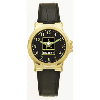 Gold and Black U.S. Army Watch