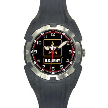 Analog Quartz Black U.S. Army Logo Watch