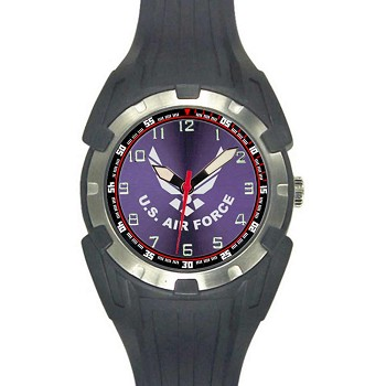 Analog Quartz Black U.S. Air Force Logo Watch