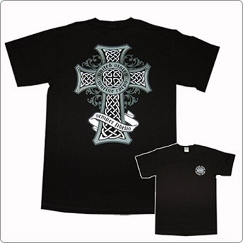 Marine Celtic Cross T-shirt by FL
