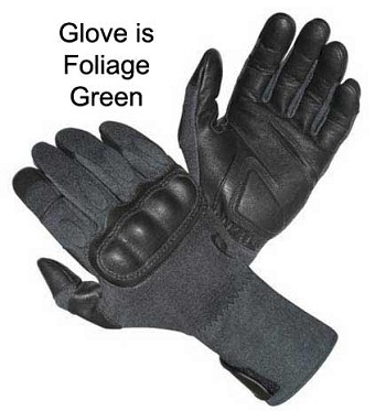 Hatch Operator Gauntlet Foliage Hard Knuckle KEVLAR Tactical Glove - SOG-HKG350