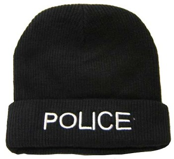 Fleece Lined Police Winter Hat