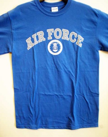 Blue Air Force Seal T-Shirt by JB