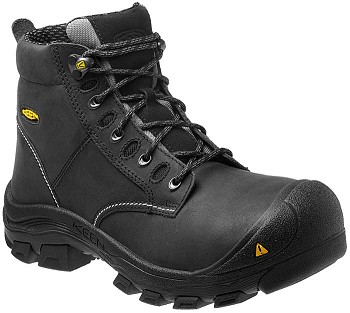 Keen Corvallis Black Steel Toe Work Boots with Waterproof Leather