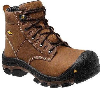 Keen Corvallis Steel Toe Brown Work Boots with Waterproof Leather
