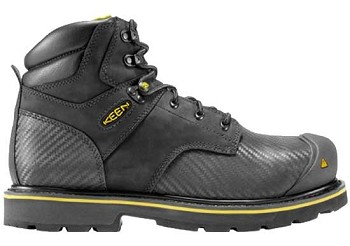 Keen Tacoma Steel Toe Work Boot -  Black