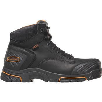 Adamas HD 6-inch Black Plain Toe Waterproof Work Boot