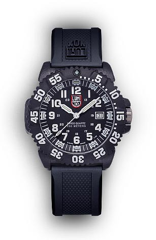 Luminox 3051 Navy Seal Colormark Wrist Watch - Black and White