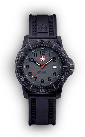 Luminox 8802 Black Ops Carbon Wrist Watch - Black and Grey