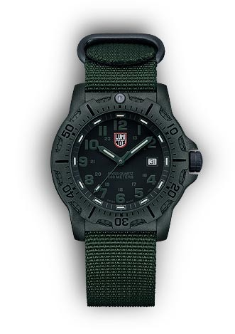 Luminox 8817.GO Black Ops Carbon Wrist Watch - Black and Olive Drab