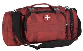 Red Medical Series Enlarged 3-Way Deployment Bag