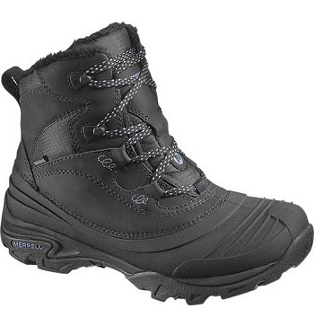 Merrell J55624 Women's Snowbound Mid Waterproof Black Winter Boots