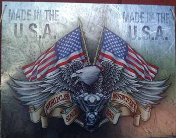 World Class Motorcross Made In USA Historic Metal Sign