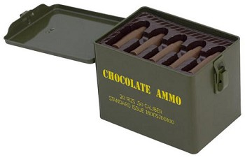 Chocolate Ammo in Military Ammo Can Tin