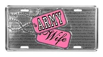Army Wife Dog Tag License Plate