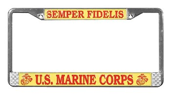 US Marine Corps License Metal Plate Frame