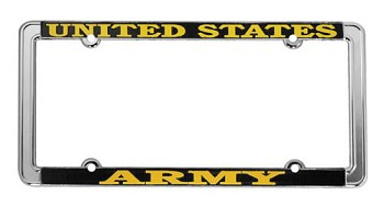 United States Army Thin Rim Metal License Plate Frame