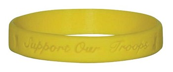 Yellow Support Our Troops Wrist Band