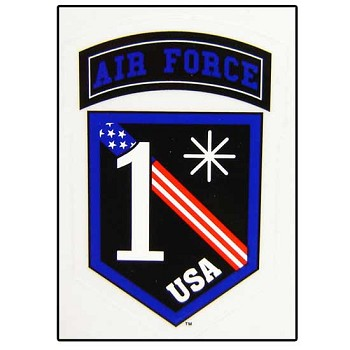 1 Asterisk United States Air Force Sticker