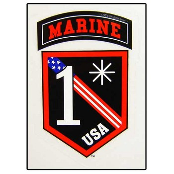 1 Asterisk United States Marine Corps Sticker