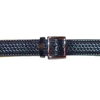 Leather Basketweave Belt - 1-3/4 inch Duty Belt Made in USA
