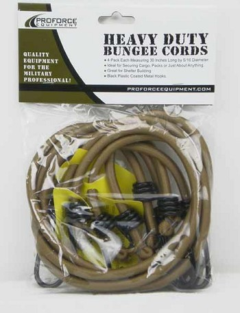 Camcon Desert Tan Heavy Duty Bungee Cords