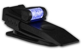 Quiqlite Blue - White Hands free LED light with strobe