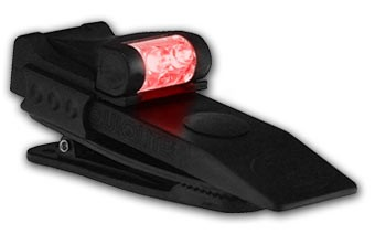 Quiqlite Red - White Hands free LED light with strobe